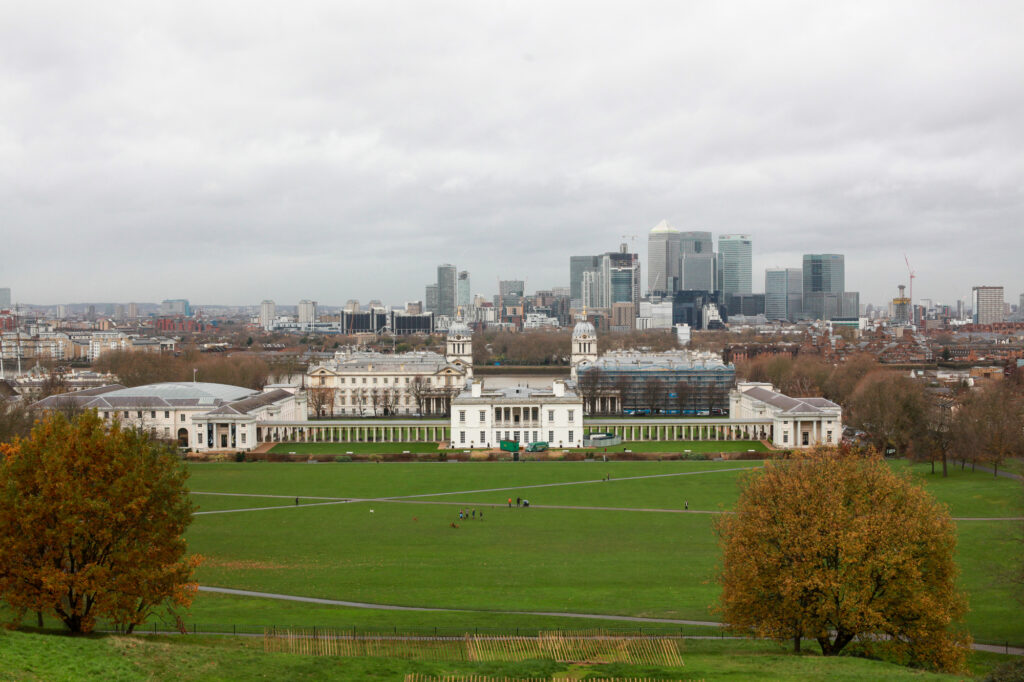 An Aerial View Of Greenwich Park In Welling, UK